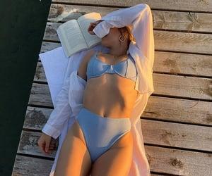 beach, fashion, and lake image
