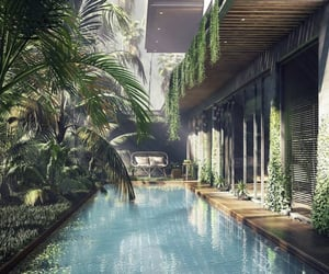 home ideas, big homes, and pool image