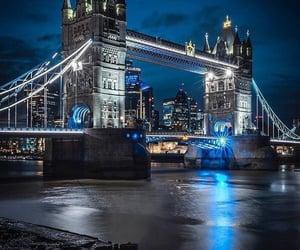 blue, city, and citylights image