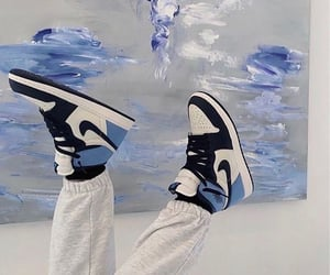 blue, jordan, and nike image