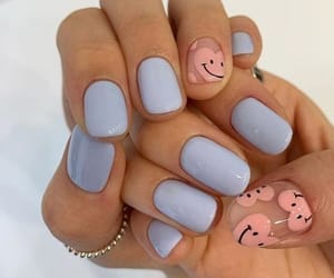 nails, hearts, and blue image