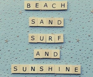 aesthetic, scrabble, and beach image