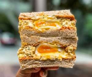 sandwich, egg salad, and tomato paste image