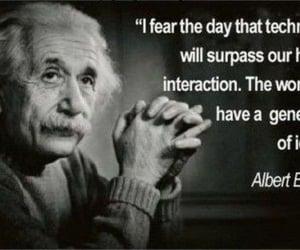quotes, Albert Einstein, and technology image
