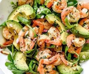 food, avocado, and shrimp image