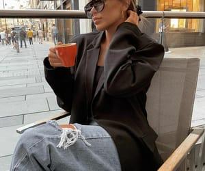 blazer, coffee, and fashion image