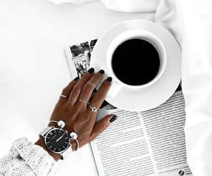 coffee, hair, and ootd image