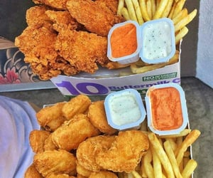 food, fries, and fast food image