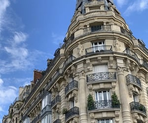 building, summer, and paris image