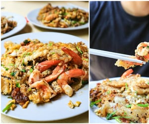 oyster, asian food, and omelette image