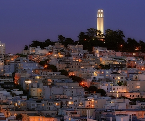 california, san francisco, and coit tower image
