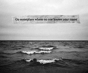 beach, quote, and wild image