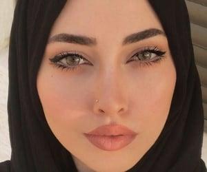arab, hijab, and makeup image