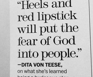 heels, quotes, and lipstick image