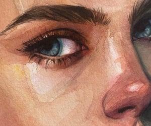 art, beautiful, and face image
