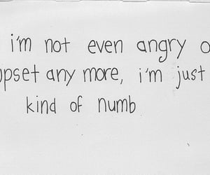 quotes, NUMB, and angry image