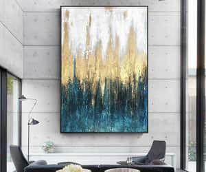 Abstract Painting, original painting, and teal art image