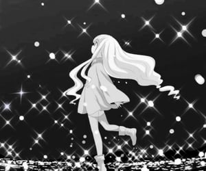 anime, b&w, and icon image