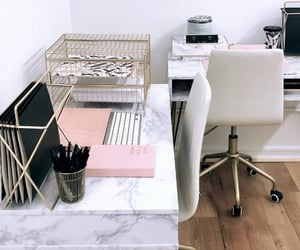 desk, marble, and pastel image