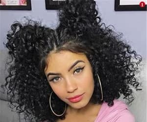 curly hair, cute, and girl image