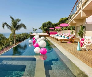 barbie, infinity pool, and pink image