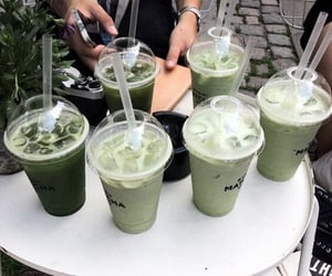 drink, green, and aesthetic image