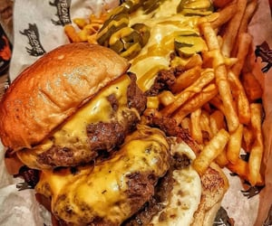 burger, fast food, and McDonald's image
