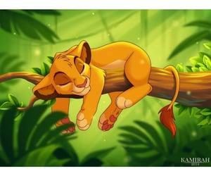 artwork, lion king, and simba image