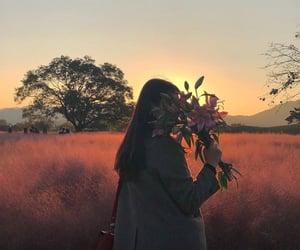 flowers, girl, and aesthetics image
