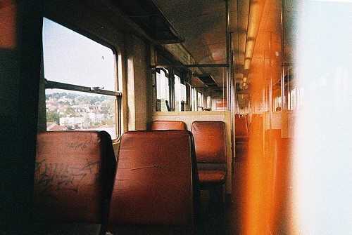 photography, train, and vintage image