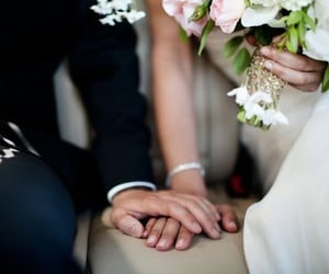 couple, engagment, and wedding image