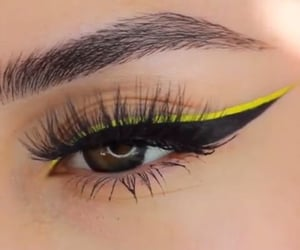 beauty, eyelashes, and eyeliner image