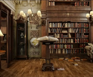 books, library, and old image