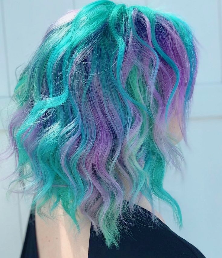 colorful hair and candy color hair image