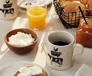 bagel, breakfast, and coffee image