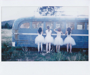 girl, ballet, and bus image