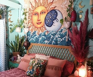 bohemian interior, moonchild, and room inspo image