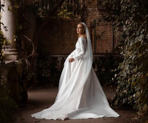 beauty, gown, and wedding dress image