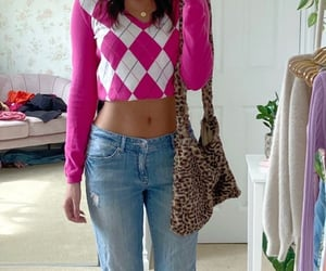 inspo, style, and pink top image