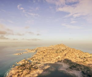 Assassins Creed, ocean, and sunset image