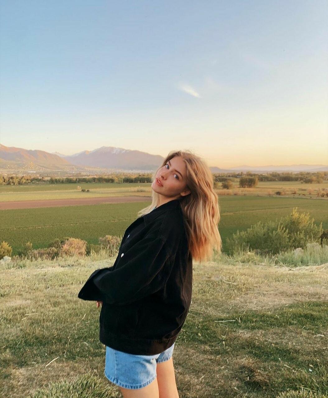 beautiful, black jacket, and blonde image
