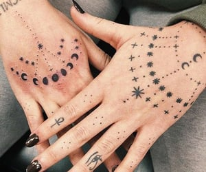 aesthetic, nails, and tattoo image