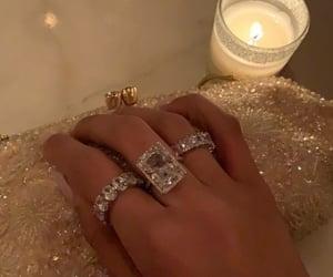 rings, diamond, and jewelry image