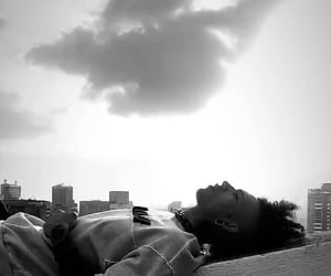 black & white, boy, and relax image