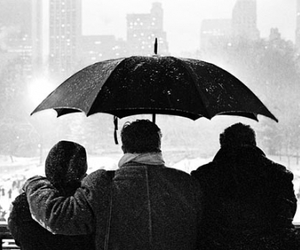 black and white, Central Park, and inverno image