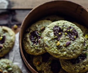 chocolate, Cookies, and pistachio image