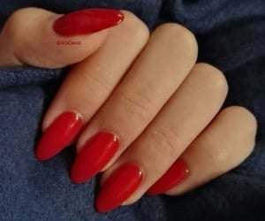 red almond nails image