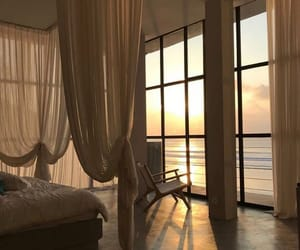 bedroom, sunset, and view image