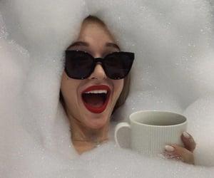 sunglasses, bath, and bubbles image
