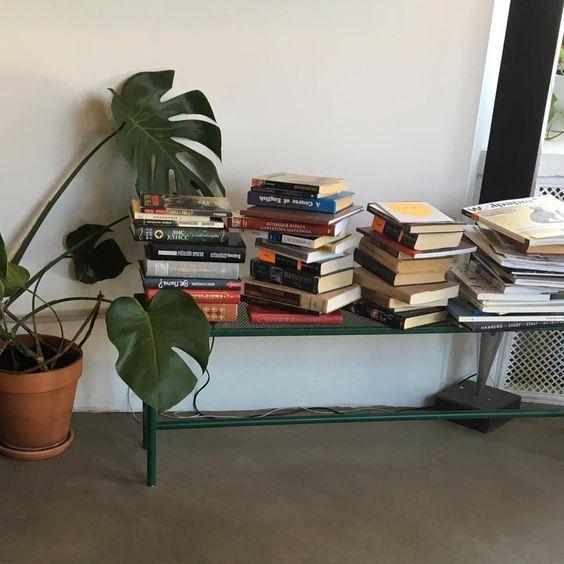 books, design, and plants image